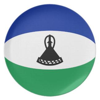Flaggen-Platte Lesothos Fisheye Teller