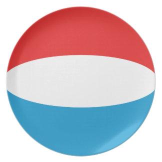 Flaggen-Platte Luxemburgs Fisheye Teller