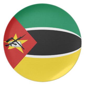 Flaggen-Platte Mosambiks Fisheye Melaminteller