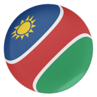 Flaggen-Platte Namibias Fisheye Teller
