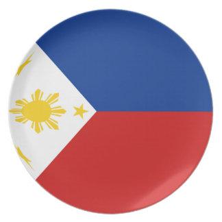 Flaggen-Platte Philippinen Fisheye Melaminteller