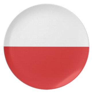 Flaggen-Platte Polens Fisheye Teller