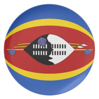 Flaggen-Platte Swasilands Fisheye Teller