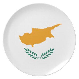 Flaggen-Platte Zyperns Fisheye Melaminteller