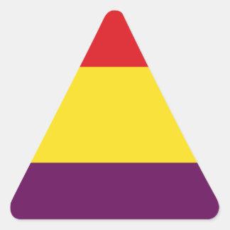 Flaggen-Republik von Spanien - Bandera República Dreieckiger Aufkleber