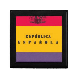 Flaggen-Republik von Spanien - Bandera República Geschenkbox