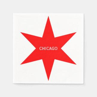"""Flaggen-roter Stern 6-Pointed """"CHICAGOS"""" - Chicago Serviette"""