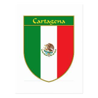 Flaggen-Schild Cartagenas Mexiko Postkarte