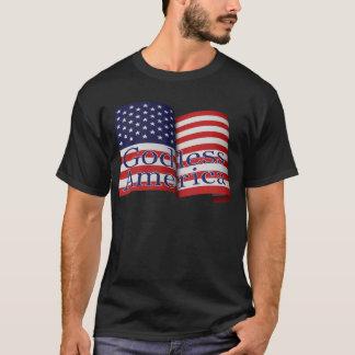 """Flaggen-Shirt """"des gottlosen Amerikas"""" der Männer T-Shirt"""