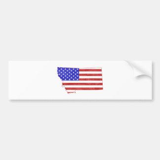 Flaggen-Silhouette-Staatskarte Montanas USA Autoaufkleber