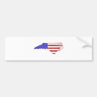 Flaggen-Silhouette-Staatskarte Nord-Carolina USA Autoaufkleber