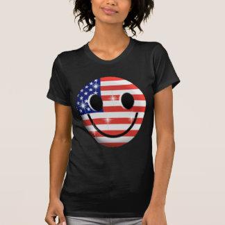 Flaggen-Smiley T Shirt