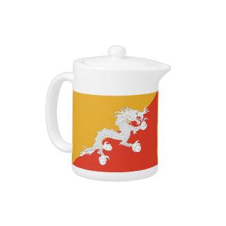 Flaggen-Teekanne von Bhutan