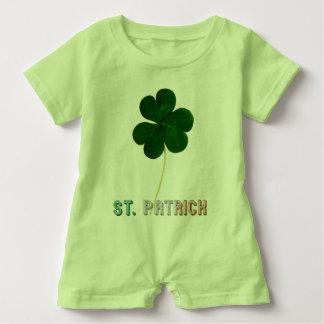 Flaggen-Typografie-Irland-Kleeblatt St Patrick Baby Strampler