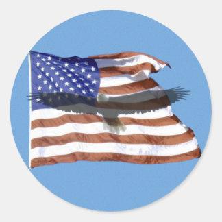 Flaggen- und Eagle-Aufkleber