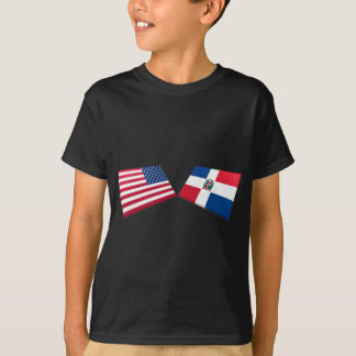 Flaggen US u. der Dominikanischen Republik T-Shirt