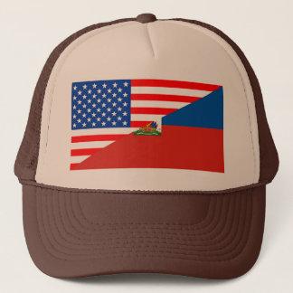 Flaggen-USA-Land Vereinigter Staaten Amerika Haiti Truckerkappe