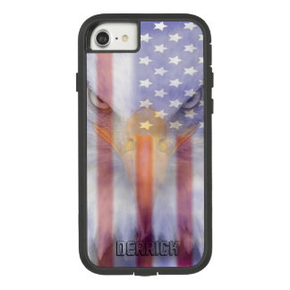 Flaggen-| verblaßter Adler | personalisiert Case-Mate Tough Extreme iPhone 8/7 Hülle