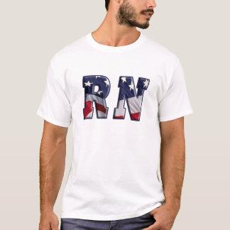 FLAGGEN-VERPACKUNGS-AUSGEBILDETE KRANKENSCHWESTER T-Shirt