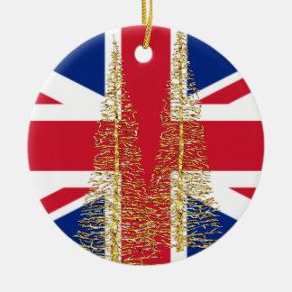 Flaggen-Weihnachtsverzierung Englands englische