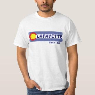 Flaggen-Wertt-stück Lafayettes Colorado lokales T-Shirt