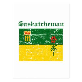 Flaggenentwurf Saskatchewans Kanada Postkarte