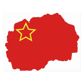 Flaggenkarte von SR Mazedonien Postkarte