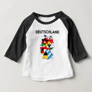 Flaggenkarten-Regionsprovinz Deutschland-Landes Shirt