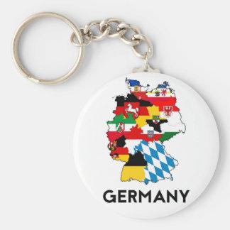 Flaggenkarten-Regionsprovinz Deutschland-Landes Standard Runder Schlüsselanhänger