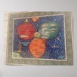 Flaggenkleeblatt-Kartenplakat 1581 Poster