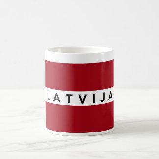 Flaggenland Latvija Textname Lettlands lettischer Kaffeetasse
