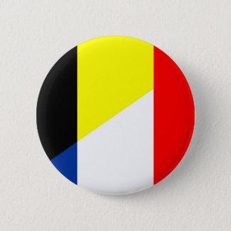 Flaggenland-Symbolflagge Frankreichs Belgien Runder Button 5,7 Cm
