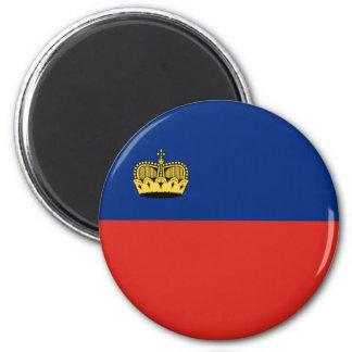 Flaggennations-Symbol repu Liechtenstein-Landes Runder Magnet 5,1 Cm