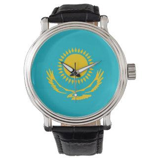 Flaggennations-Symbol republi Kasachstan-Landes Armbanduhr