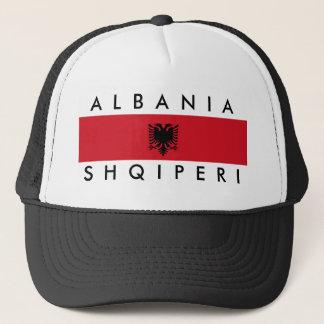 Flaggennations-Symbolname Albanien-Landes langer Truckerkappe