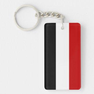 Flaggennations-Symbolname Yemen-Landes langer Einseitiger Rechteckiger Acryl Schlüsselanhänger