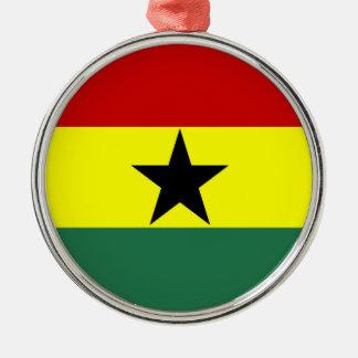 Flaggennations-Symbolrepublik Ghana-Landes lange Rundes Silberfarbenes Ornament