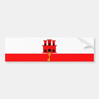 Flaggennations-Symbolrepublik Gibraltar-Landes Autoaufkleber