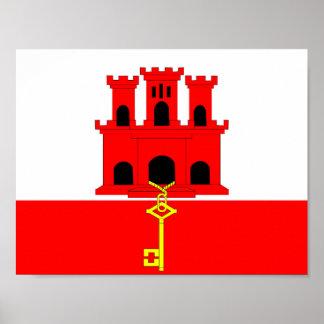 Flaggennations-Symbolrepublik Gibraltar-Landes Poster