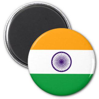 Flaggennations-Symbolrepublik Indien-Landes lange Runder Magnet 5,7 Cm