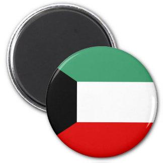 Flaggennations-Symbolrepublik Kuwait-Landes lange Runder Magnet 5,1 Cm