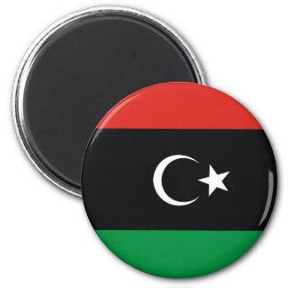 Flaggennations-Symbolrepublik Libyen-Landes lange Runder Magnet 5,7 Cm