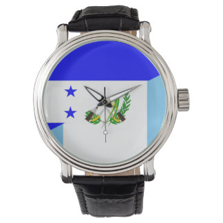 Flaggensymbol Landes Hondurass Guatemala halbes Uhr