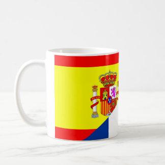Flaggensymbol s Nachbarländer Spaniens Frankreich Kaffeetasse