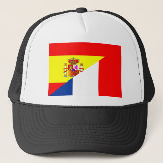 Flaggensymbol s Nachbarländer Spaniens Frankreich Truckerkappe