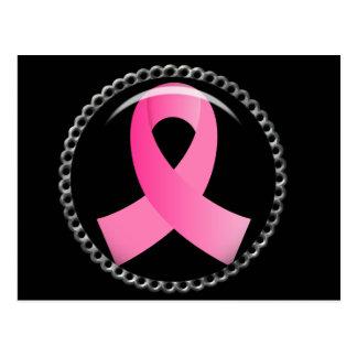 Flair-Rosa Brustkrebs Schleife Postkarte