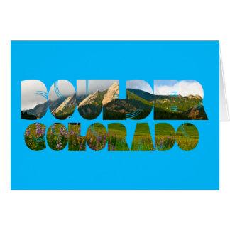 Flairons, Boulder Colorado Karte