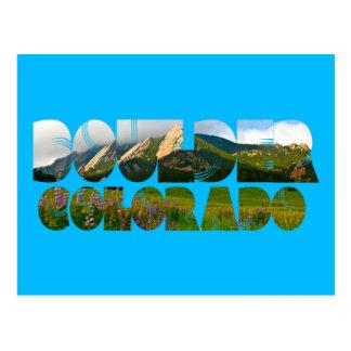 Flairons, Boulder Colorado Postkarte