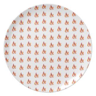 Flame Pattern Red Orange Teller