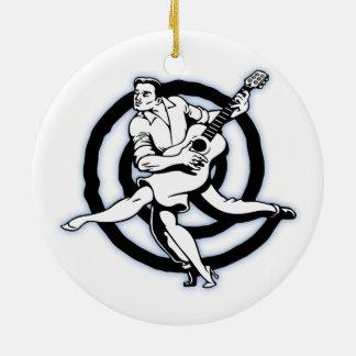 Flamenco-Gitarre Keramik Ornament